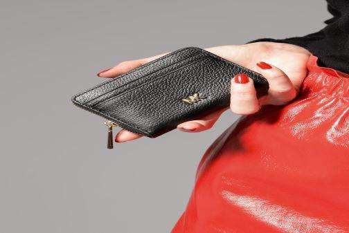 Petite Maroquinerie Michael Michael Kors ZA Coin Card Case Noir vue haut