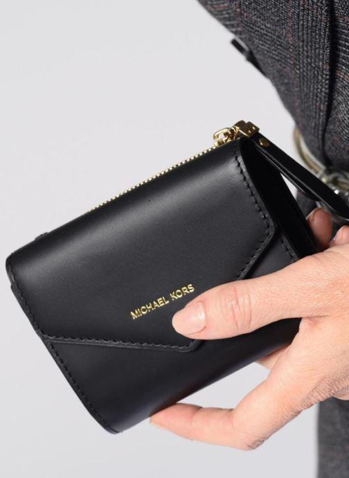 Petite Maroquinerie Michael Michael Kors Blakely SM Card Wallet Noir vue bas / vue portée sac