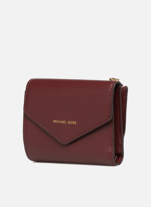 Petite Maroquinerie Michael Michael Kors Blakely SM Card Wallet Bordeaux vue portées chaussures
