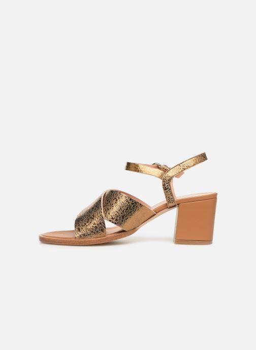 Sandales et nu-pieds Craie INFINITY TALON Or et bronze vue face