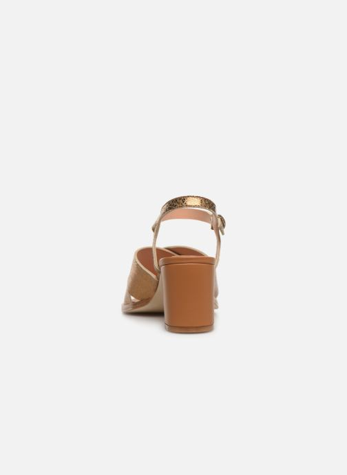 Sandales et nu-pieds Craie INFINITY TALON Or et bronze vue droite