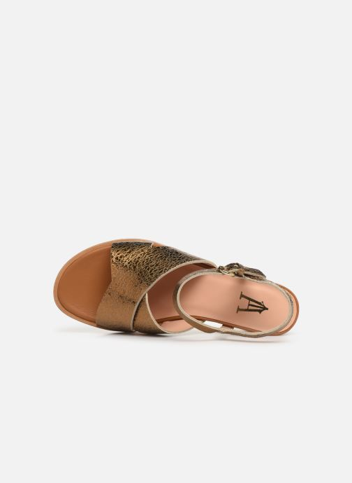 Sandals Craie INFINITY TALON Bronze and Gold view from the left