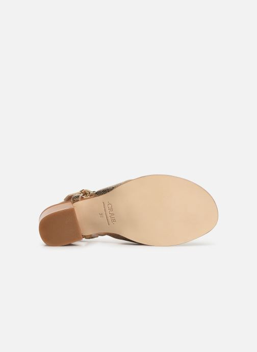 Sandals Craie INFINITY TALON Bronze and Gold view from above