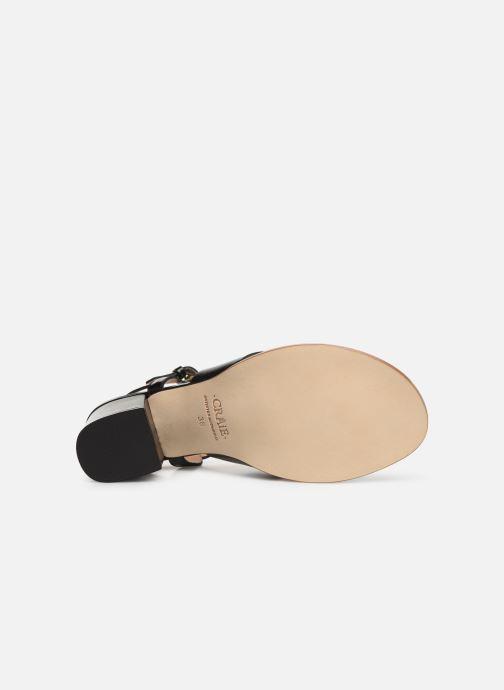 Sandales et nu-pieds Craie INFINITY TALON Noir vue haut
