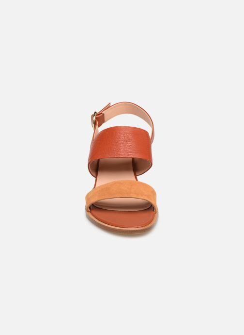Sandales et nu-pieds Craie ISOCELE TALON Orange vue portées chaussures