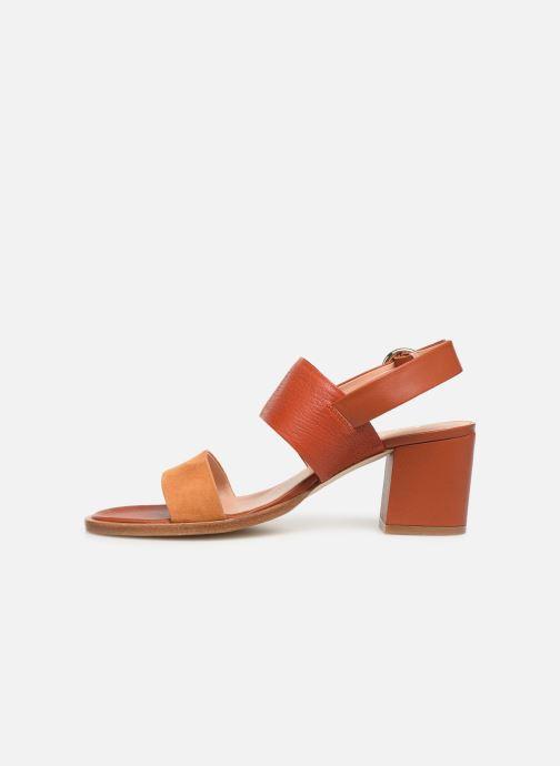 Sandales et nu-pieds Craie ISOCELE TALON Orange vue face