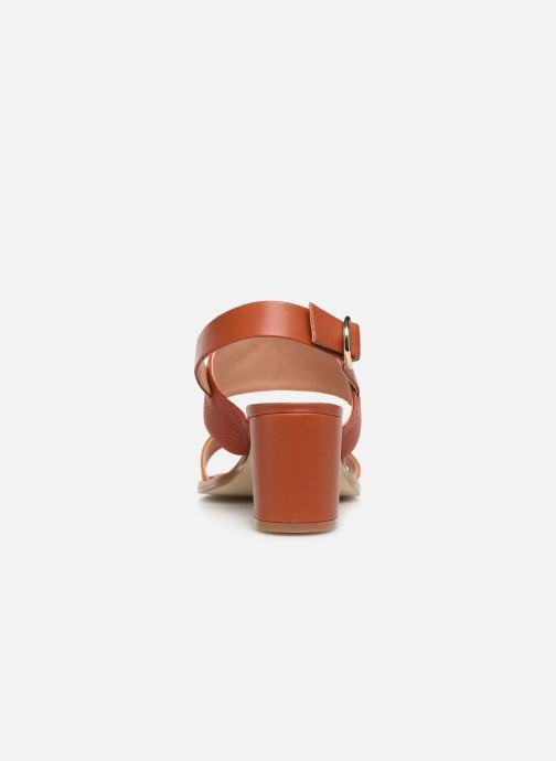 Sandales et nu-pieds Craie ISOCELE TALON Orange vue droite