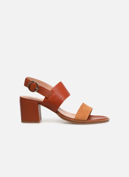 Sandales et nu-pieds Craie ISOCELE TALON Orange vue derrière