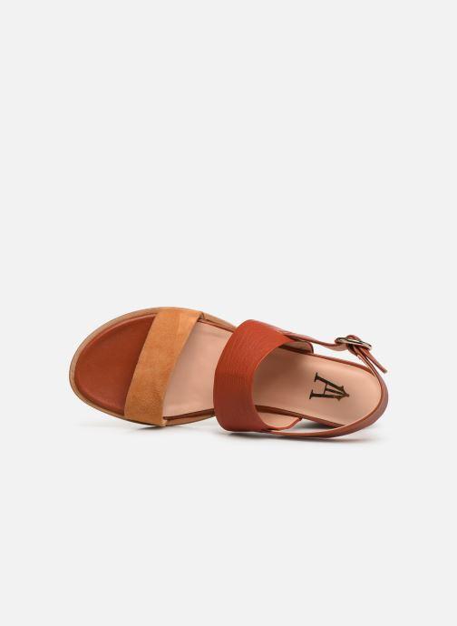 Sandales et nu-pieds Craie ISOCELE TALON Orange vue gauche