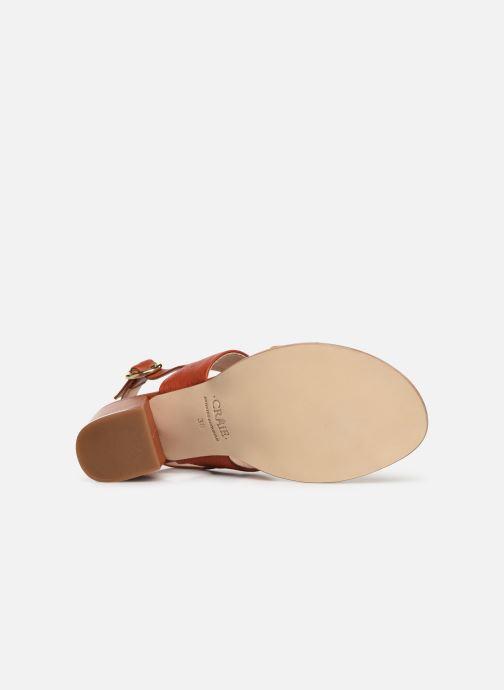 Sandales et nu-pieds Craie ISOCELE TALON Orange vue haut