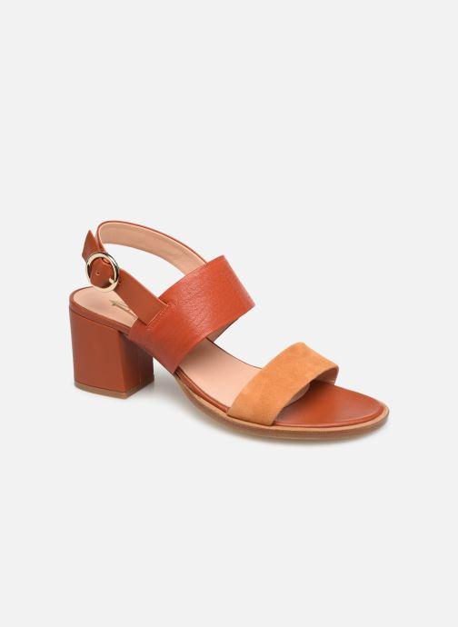 Sandales et nu-pieds Craie ISOCELE TALON Orange vue détail/paire