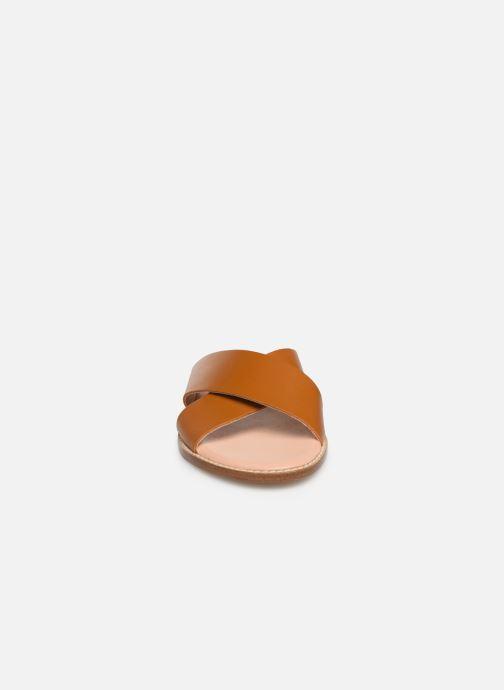 Mules et sabots Craie INFINITY Marron vue portées chaussures