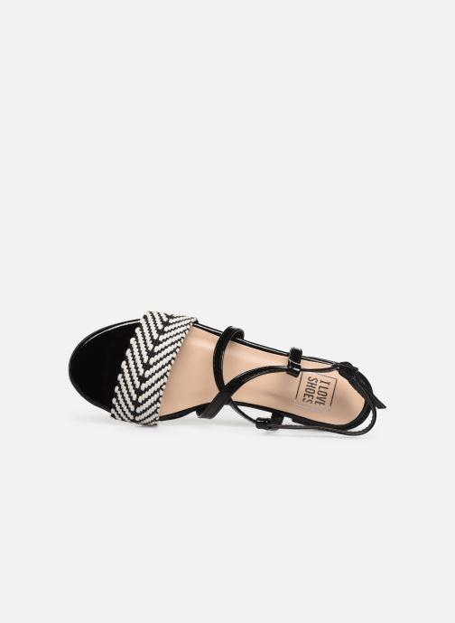 Sandales et nu-pieds I Love Shoes CAITLIN Noir vue gauche