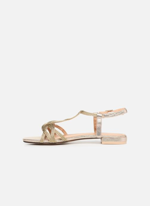 Sandales et nu-pieds I Love Shoes CALANDRA Or et bronze vue face
