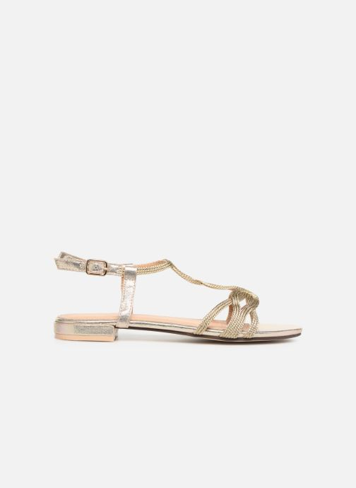 Sandales et nu-pieds I Love Shoes CALANDRA Or et bronze vue derrière