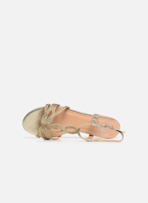Sandalias I Love Shoes CALANDRA Oro y bronce vista lateral izquierda