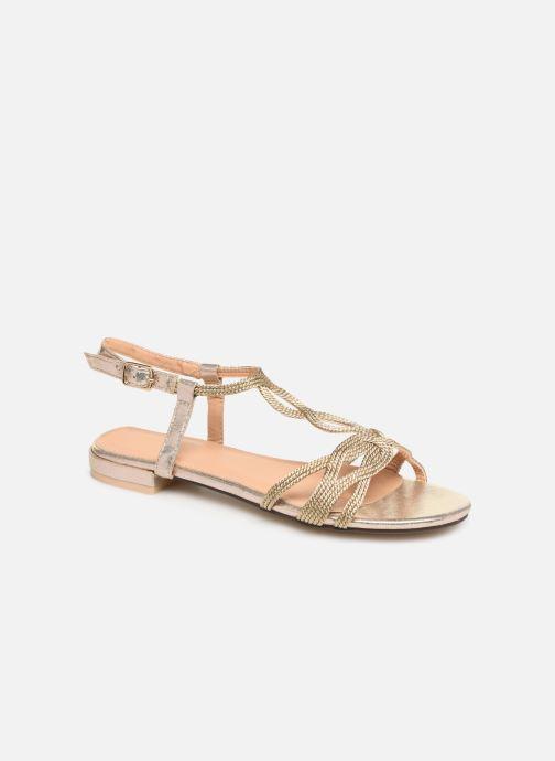 Sandales et nu-pieds I Love Shoes CALANDRA Or et bronze vue détail/paire