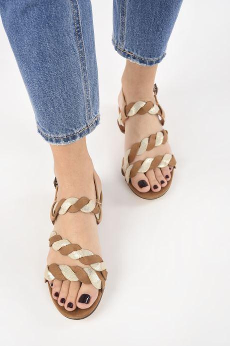 Sandalias I Love Shoes CALIPSO Marrón vista de abajo