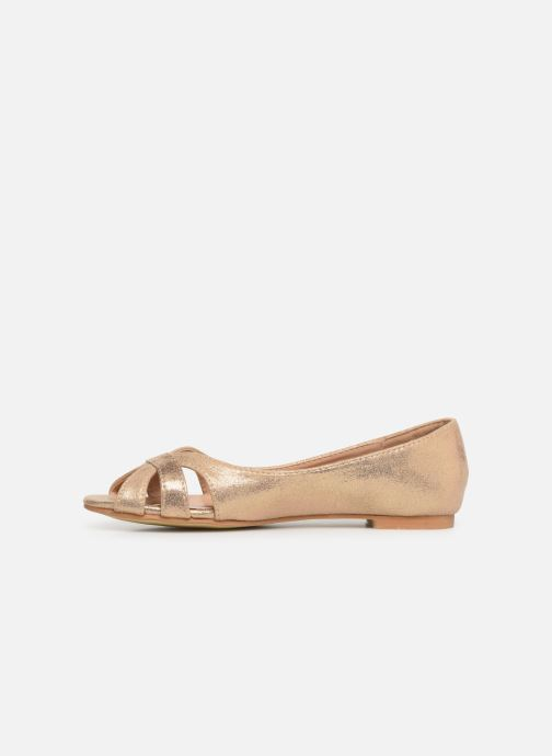 Ballerines I Love Shoes CARREN Or et bronze vue face