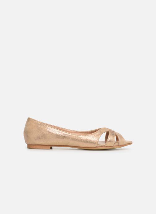 Ballerines I Love Shoes CARREN Or et bronze vue derrière
