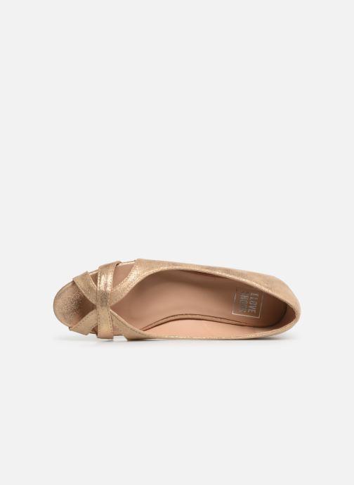 Ballerines I Love Shoes CARREN Or et bronze vue gauche
