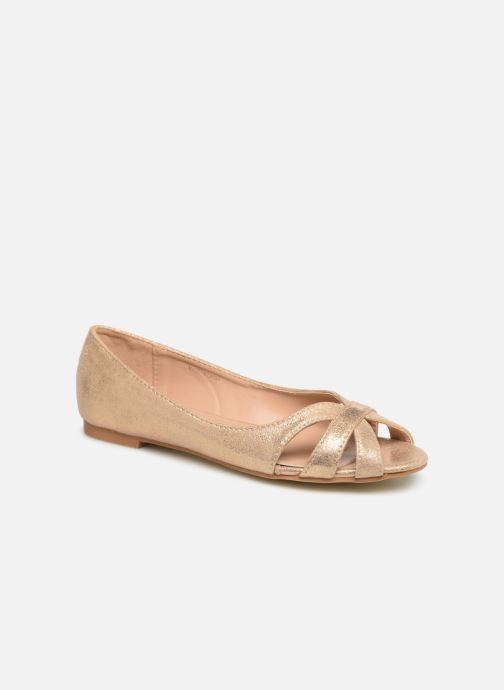 Ballerines I Love Shoes CARREN Or et bronze vue détail/paire
