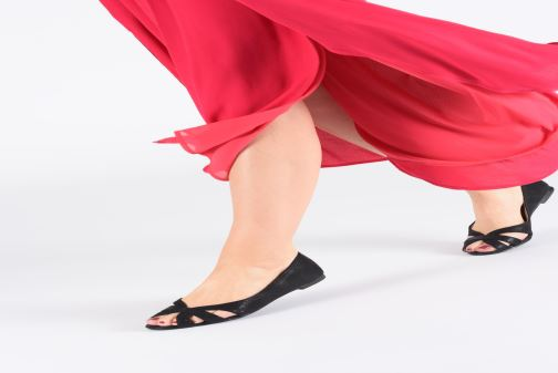 Ballet pumps I Love Shoes CARREN Black view from underneath / model view