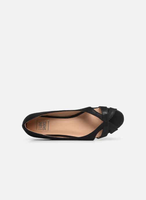 Ballet pumps I Love Shoes CARREN Black view from the left