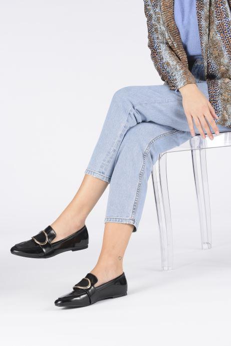 Mocassins I Love Shoes CAMELIE Noir vue bas / vue portée sac
