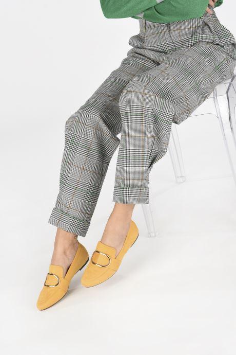 Mocassins I Love Shoes CAMELIE Jaune vue bas / vue portée sac