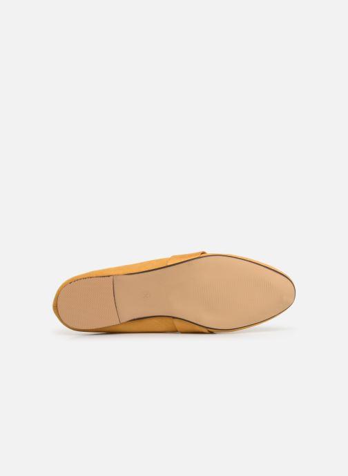 Mocassins I Love Shoes CAMELIE Jaune vue haut