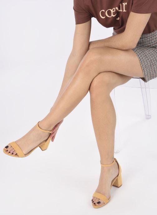 Sandales et nu-pieds I Love Shoes CABBY Jaune vue bas / vue portée sac