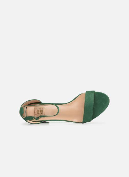 Sandalias I Love Shoes CABBY Verde vista lateral izquierda