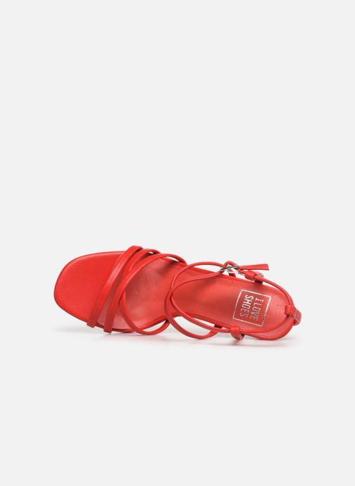 Sandalias I Love Shoes CASPAGH Rojo vista lateral izquierda