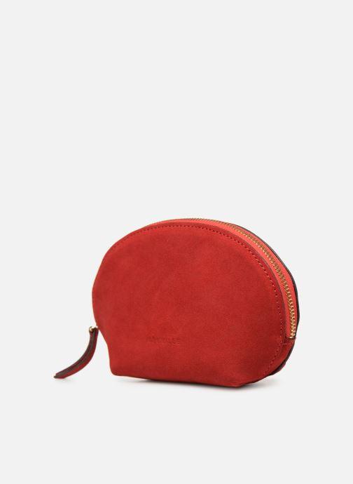 Petite Maroquinerie Neuville Cute Rouge vue portées chaussures