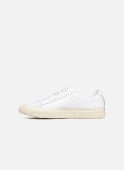 Baskets Puma Basket Stiched White Blanc vue face