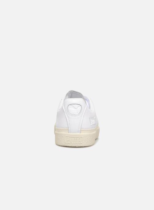 Baskets Puma Basket Stiched White Blanc vue droite