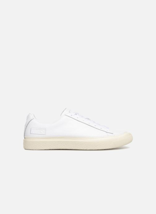 Baskets Puma Basket Stiched White Blanc vue derrière