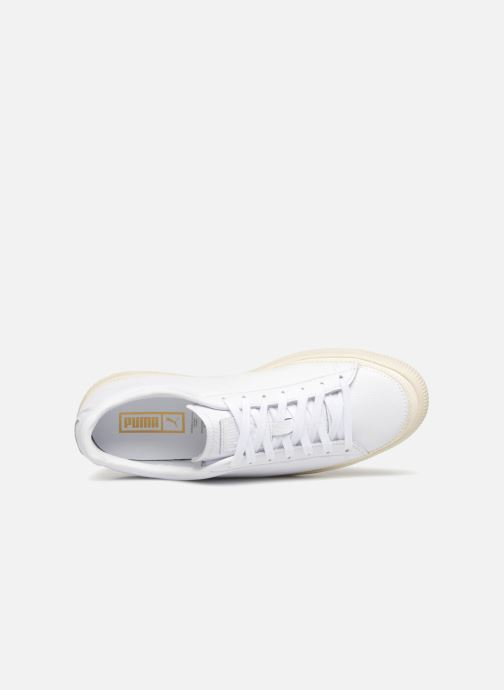 Baskets Puma Basket Stiched White Blanc vue gauche