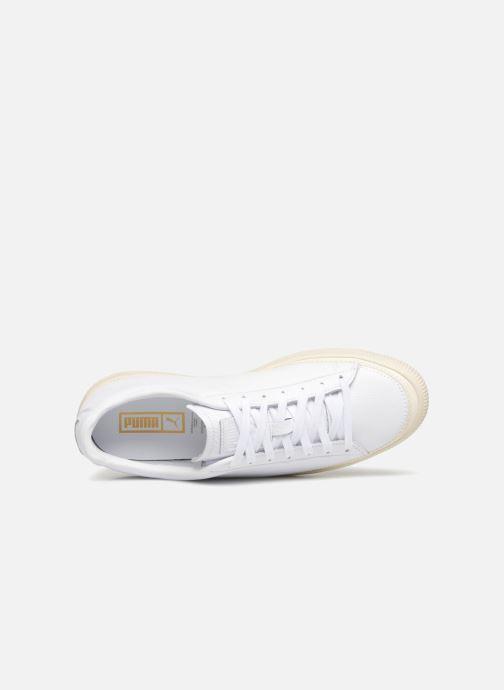 Sneakers Puma Basket Stiched White Bianco immagine sinistra