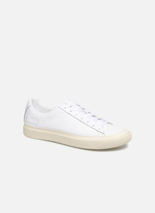 Baskets Puma Basket Stiched White Blanc vue détail/paire