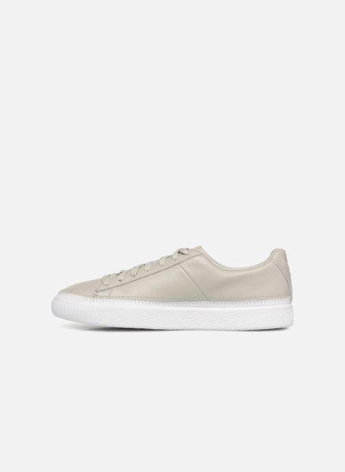 Sneakers Puma Basket Stiched Grey Grå se forfra
