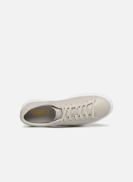 Sneakers Puma Basket Stiched Grey Grå se fra venstre