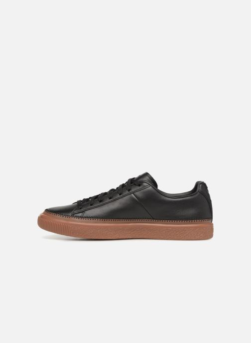 Sneakers Puma Basket Stiched Black Sort se forfra