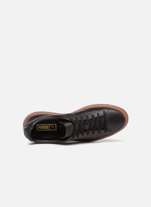 Baskets Puma Basket Stiched Black Noir vue gauche