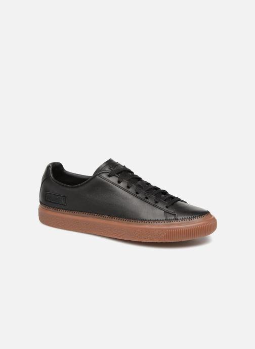 Sneakers Puma Basket Stiched Black Sort detaljeret billede af skoene