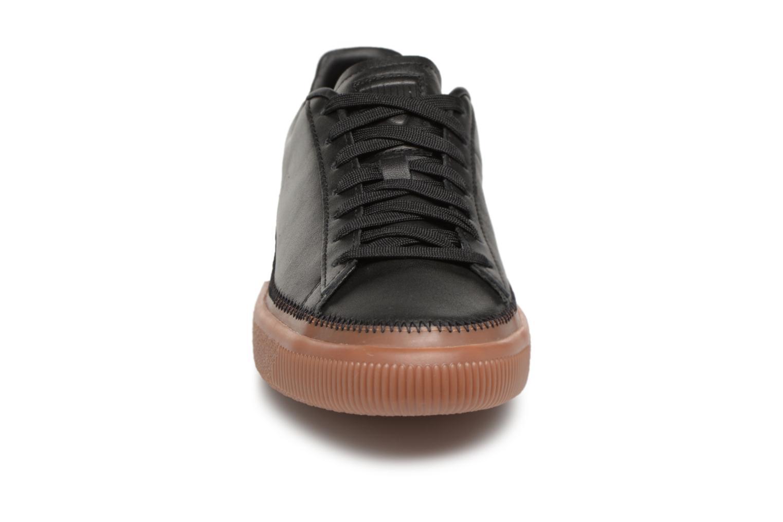 Baskets Puma Basket Stiched Black Noir vue portées chaussures