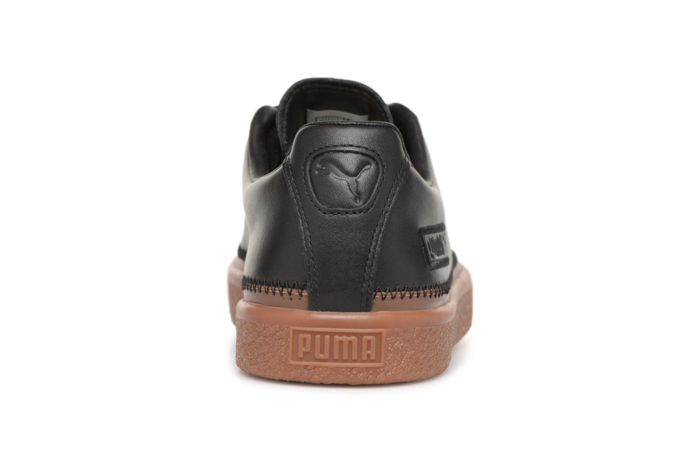 Baskets Puma Basket Stiched Black Noir vue droite