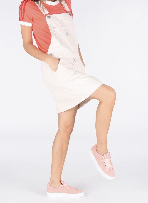 Baskets Puma Vikky Platform Rose vue bas / vue portée sac