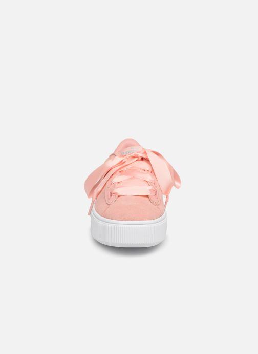 Sneakers Puma Vikky Platform Rosa modello indossato